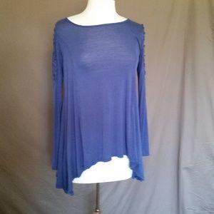 EUC Altar'd State Blue Long Sleeve Blouse